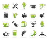 Food, drink and restaurant icons- Royalty Free Stock Photos