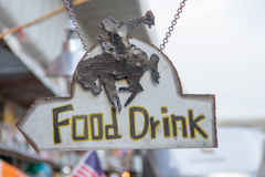 Food and drink shop signs Stock Photography