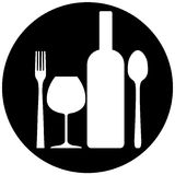FOOD & DRINK SIGN Stock Photo