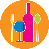 FOOD & DRINK SIGN Royalty Free Stock Images