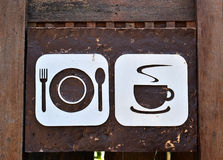 Food and drink sign board Royalty Free Stock Image