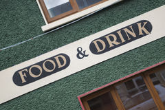 Food and Drink Sign Stock Images