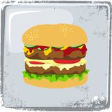 Food and drink theme burger Royalty Free Stock Photo