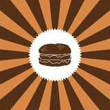 Food and drink theme burger Stock Photography