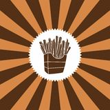 Food and drink theme french fries Royalty Free Stock Image