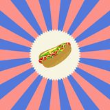Food and drink theme hot dog Royalty Free Stock Image
