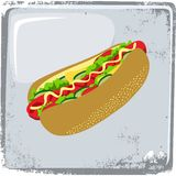 Food and drink theme hot dog Stock Photo