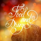 Food and Drink typographic poster design Royalty Free Stock Image