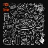 Food and Drink vector big set royalty free illustration