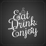 Food and drink vintage lettering Stock Photos