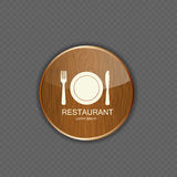 Food and drink wood application icons Royalty Free Stock Photography