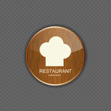 Food and drink wood application icons Stock Photo