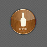 Food and drink wood application icons Stock Photography