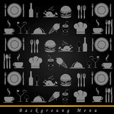 Food and drinks background Stock Images