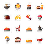 Food and Drinks Colorful Icons Stock Photo