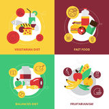 Food And Drinks Design Icons Set Royalty Free Stock Image