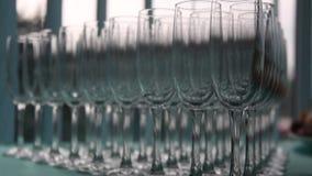 Food drinks glasses stock footage