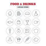Food and Drinks icon. Beer, coffee and cocktail. Royalty Free Stock Image