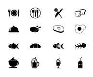 Food and drinks. Icons over white background vector illustration Royalty Free Stock Photography