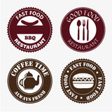Food and drinks labels Royalty Free Stock Photography