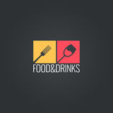 Food an drinks menu design background Stock Images