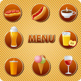 Food and drinks menu Stock Image