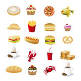 Food and drinks Royalty Free Stock Photo