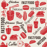 Food and drinks pattern Stock Photo