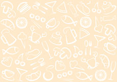 Food and drinks pattern Stock Photos