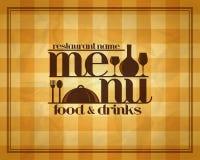 Food and drinks retro restaurant menu. Design style Royalty Free Stock Photos