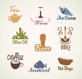 Food and drinks Stock Image