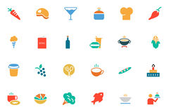 Food and Drinks Vector Colored Icons 2 Royalty Free Stock Image