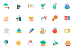 Food and Drinks Vector Colored Icons 1 Royalty Free Stock Photography