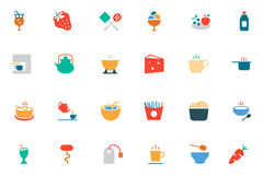 Food and Drinks Vector Colored Icons 4 Royalty Free Stock Image