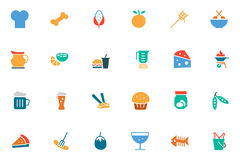 Food and Drinks Vector Colored Icons 5 Stock Images