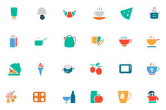 Food and Drinks Vector Colored Icons 9 Royalty Free Stock Images