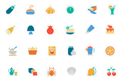 Food and Drinks Vector Colored Icons 10 Stock Images