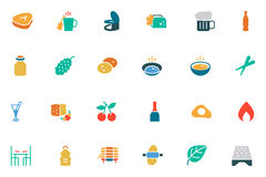 Food and Drinks Vector Colored Icons 11 Royalty Free Stock Photo