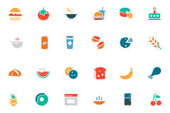 Food and Drinks Vector Colored Icons 3 Royalty Free Stock Photos