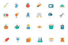 Food and Drinks Vector Colored Icons 17 Royalty Free Stock Photo