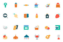 Food and Drinks Vector Colored Icons 8 Stock Photography