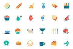 Food and Drinks Vector Colored Icons 13 Stock Image