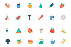 Food and Drinks Vector Colored Icons 11 Royalty Free Stock Image