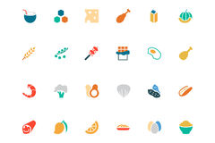Food and Drinks Vector Colored Icons 18 Royalty Free Stock Photography