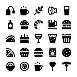 Food and Drinks Vector Icons 4 Royalty Free Stock Photography