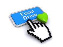 Food drive button Stock Image