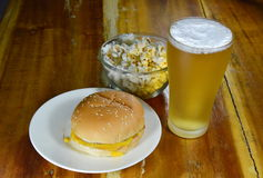 Food eaten with beer Stock Photography
