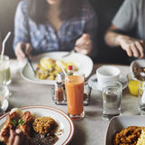 Food Eating Restaurant Community Cafe Concept Royalty Free Stock Photography