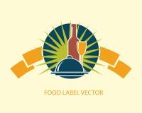 Food emblem label Stock Image
