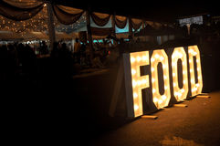 Food Event. Photograph of Food Event at night time in Putrajaya Royalty Free Stock Photos